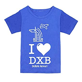 FMstyles - I love like DXB Dubai airport Royal Blue Kids Tshirt - fmS230