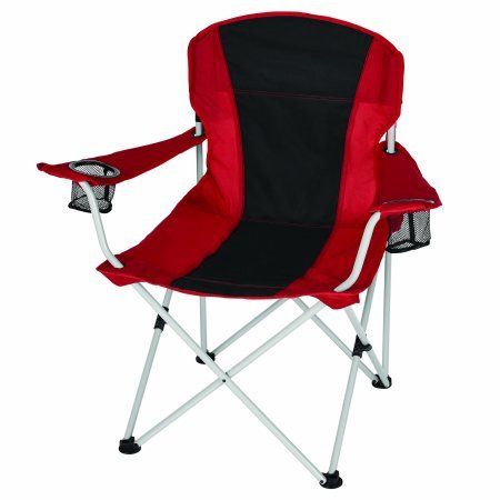 Built In Cup Holders - Relax Comfortably With Durable OZARK TRAIL OVERSIZED CHAIR,With Built-in Universal Umbrella Holder and Quick Pack Strap,2 Built-in Cup Holders,Includes Carry Bag with Carry Strap,RED/BLACK