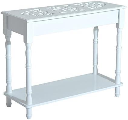 Homcom – Mesa consola moderna para la entrada, de madera blanca ...