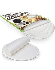 Tortillada – 200 stuks voorgesneden bakpapier vellen /perkament papier rondes