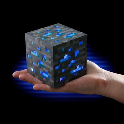 Minecraft ThinkGeek Light-Up Blue Stone Diamond Ore - Sure to Keep Pigmen Away by Minecraft
