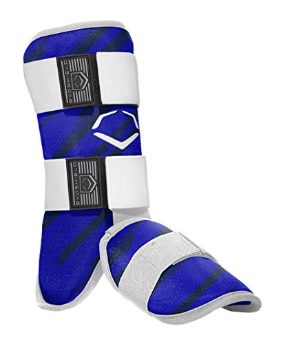 EvoShield MLB Batters Speed Stripe Leg Guard, Royal, Adult (Batters Guard Baseball)