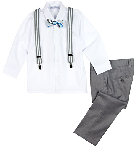 Buy grey dress pants with white shirt - 4