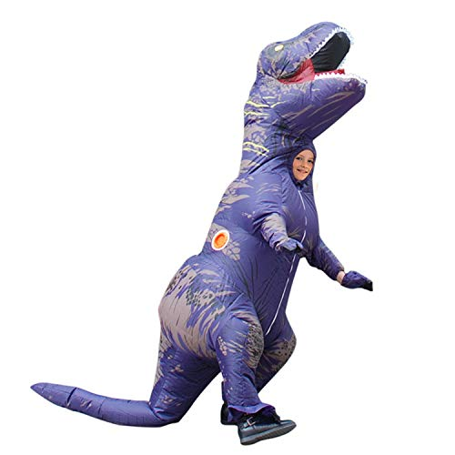 WeeLion Halloween/Christmas Inflatable Clothing, Fun Costumes for Adults and Children,Purple,Child -