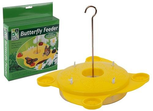 Nervios y Shoots amarillo Feeder de mariposa PMS International