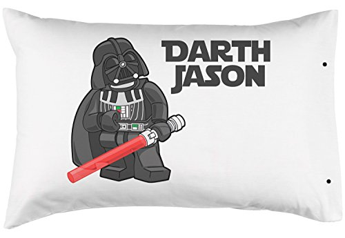PersonalizedPillowcase Customized Darth Vader Lego Man Pillowcase, Fun Star Wars Theme - 100% Double Brushed Microfiber with Snap Enclosure - 20