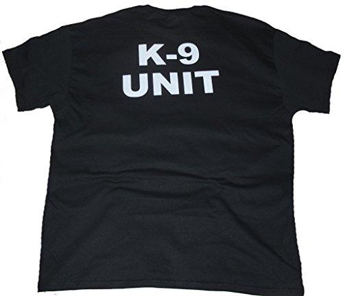 Got Tee- K-9 UNIT Poice Duty K9 T-Shirt- Two Sides Print L Black (Unit T Shirt compare prices)