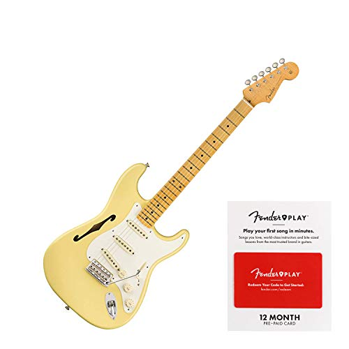 - Fender Artist Series Eric Johnson Signature Stratocaster Thinline Vintage White