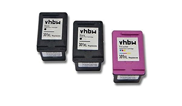 vhbw 3X Cartuchos para Impresora Cartuchos de Tinta Negro + ...