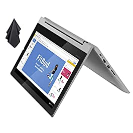 2021 Newest Lenovo Flex 3 2-in-1 Convertible Chromebook, 11.6″ HD Touchscreen, MediaTek MT8173C CPU, 4GB RAM, 32GB eMMC, PowerVR Graphics, Dolby Audio, HD Webcam, Chrome OS, Grey + Oydisen Cloth