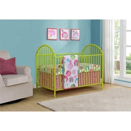 Cosco Maxwell Metal Crib | Adjustable Mattress Height with 3 Locations, Green (Baby Cribs Cosco)