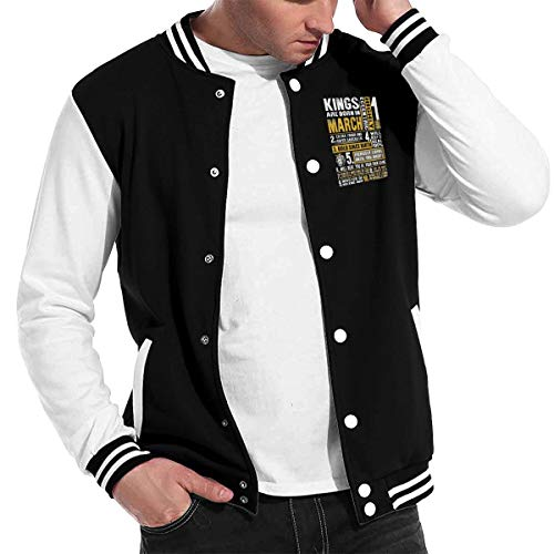 Mens Kings are Born in March Awesome\r\nBaseball Uniform Jacket Sport Coat -
