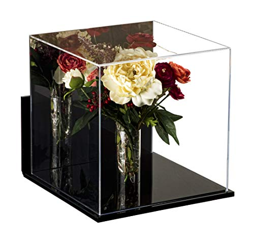 Deluxe Acrylic Collectible Wedding Flower Bouquet Display Case with Mirror and Wall Mount ()