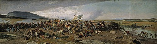 Oil Painting 'Fortuny Marsal Mariano The Battle Of Wad Rass 1862 63' 30 x 105 inch / 76 x 267 cm , on High Definition HD canvas prints is for Gifts And Bed Room, Garage And Kitchen Decoration, huge (Card Finder Magic Trick)