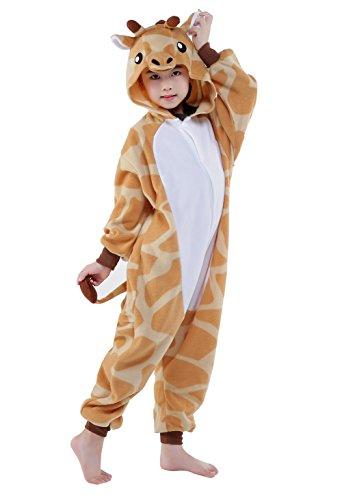 NEWCOSPLAY Unisex Children Pajama Giraffe Costumes (4) (Giraffe Soft Costume)