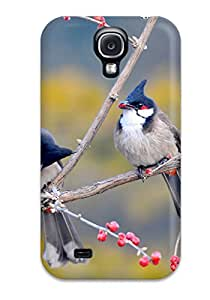 Best 3283359K88418856 Ideal Case Cover For Galaxy S4(red Whiskered Bulbul Birds), Protective Stylish Case