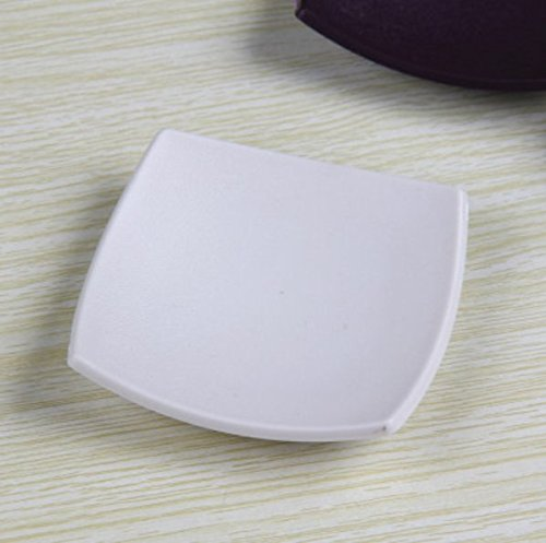 SUxian Diseño Moderno ABS Bathroom ARC Shape Jabonera Jabonera Soap Plate Soap Holder-White