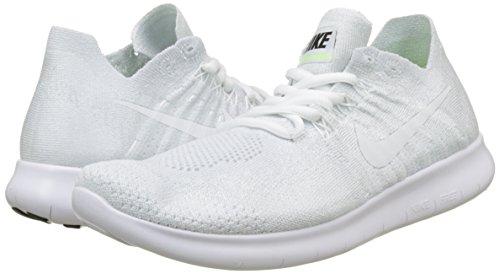 De Noir Rn Sur Nike Pour Platinum Sentier 2017 Wmns Free Pure Course 100 Chaussures blanc Flyknit Femme Blanc na4qax