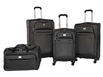 Amazon Com Dockers Classic Luggage Set Charcoal 4 Pack