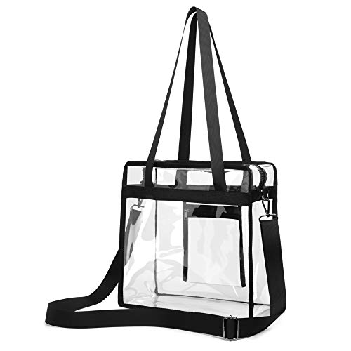 Clear Tote Bag, F-color Clear Bag Stadium Approved Cross body Bag for Women Men