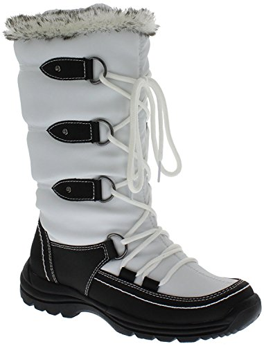 Women's Snow WeatherProof Moria Boot Black White ORHxWTFv