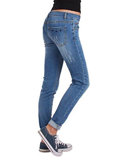 used Bleu basse skinny jeans Fraternel femme pantalon taille wxZUPwOq