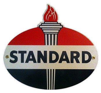 Standard Gasoline Porcelain Sign