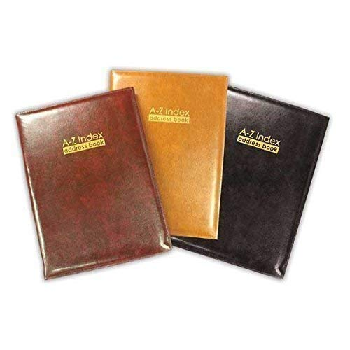 The Home Fusion Company Burgundy Large Size 185 X 245Mm Size A Z Index Leather Cover Executive Padded Address Book