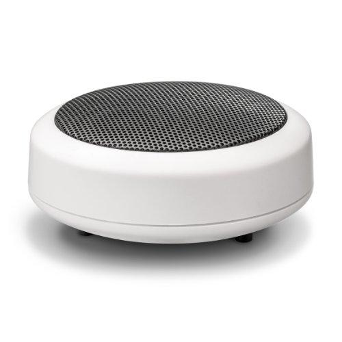 Wavemaster MOBI-2 Mini Lautsprecher mit Bluetooth-Funktion (1 Stück) für mobile Soundquellen wie Smartphone, Handy, Tablet, MP3-Player, Laptop usw. in weiß