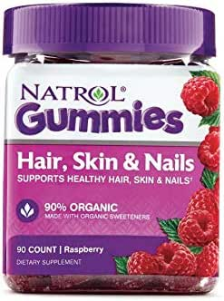 Natrol Hair Skin & Nails Gummy, 90 Count Pack of 2