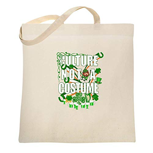 Culture Not A Costume St Patrick's Day Natural 15x15 inches Canvas Tote Bag]()