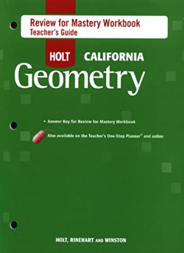 holt geometry california review for mastery workbook teacher guide rh amazon com Holt Geometry Practice Holt Geometry Online