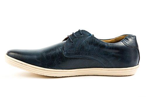 Base London - Zapatillas de Piel Lisa para hombre azul azul 42