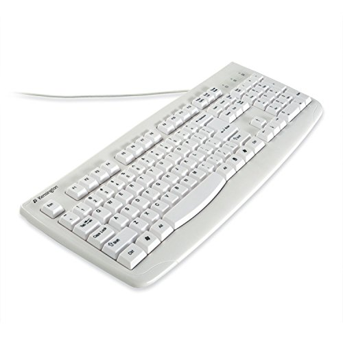 Kensington K64406US Washable USB Keyboard with Antimicrobial Protection, White