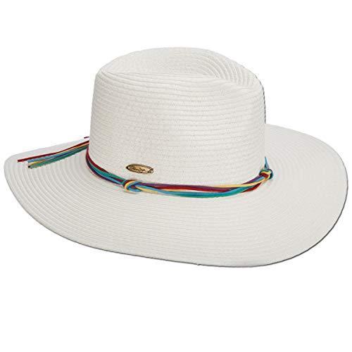 Panama Jack Women's Sun Hat - Lightweight Paper Braid, UPF (SPF) 50+ Sun Protection, Sizing Tie, 3 3/4