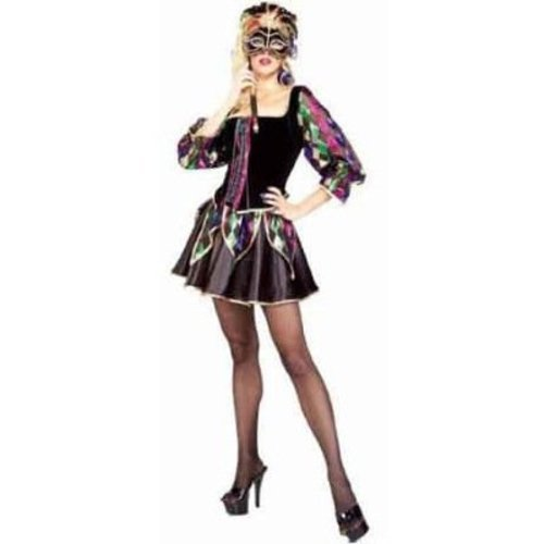 Jester Costume For Woman (Mardi Gras Sexy Jester Adult Costume Size Small 4-6)