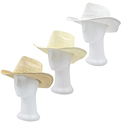 Premium Solid Color Lace Braided Straw Cowgirl Cowboy Hat - Different Colors