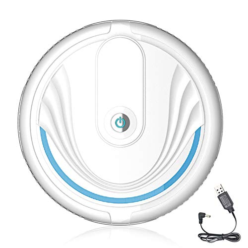 comeslele Robot Vacuum Cleaner,Home Automatic Smart Powerful Suction Cleaning Robot Sweeper Dust Remover Robotic Vacuum for Floor White Rechargeable