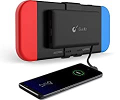 1.First Power Bank for Nintendo SwitchCompact, Detachable Back Mount, High-Speed 10000 mAhPlay Longer, Enjoy More2.Compact and Lightweight Compact body takes no disturbance during gaming and lightweight design allows to easily travel.3...