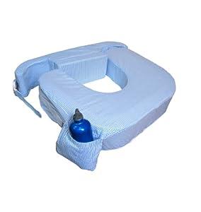 My Brest Friend Twin Breastfeeding Pillow Blue Stripe