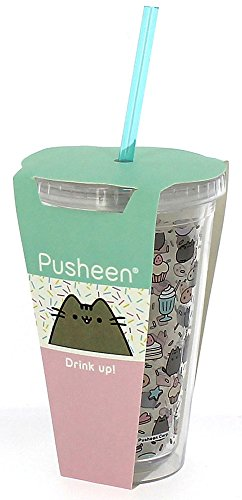 Pusheen® Beaker with Straw