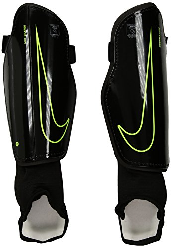 Nike Adult Charge 2.0 Soccer Shin Guard Black/Volt Size - Guard Shin Soccer