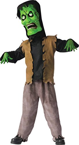 Bobble Head Monster Costumes - Boys Bobble Head Monster Green Kids Child Fancy Dress Party Halloween Costume, L (12-14)