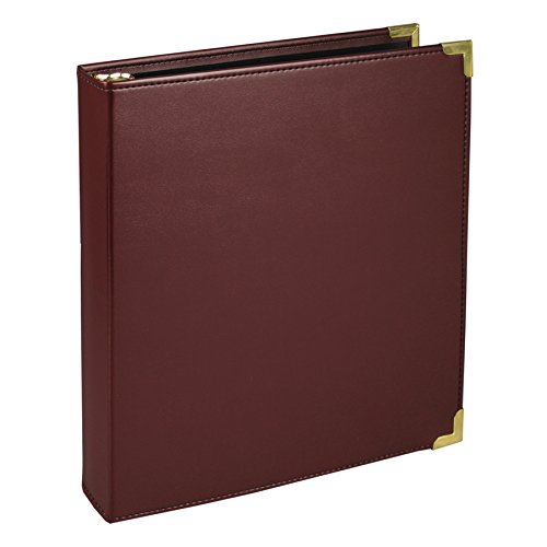 Samsill 15134 Classic Collection Executive Presentation 3 Ring Binder, 1 Inch Brass Round Ring (Holds 225 Sheets), (Ring Vinyl Presentation Binder)