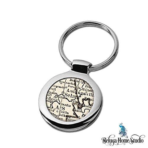 Amazon.com: Map Keychain Selma Alabama Key Ring Fob: Handmade