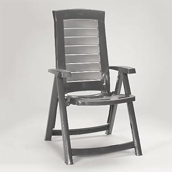allibert jardin aruba gris graphite fauteuil de jardin inclinable pliant - Fauteuil Jardin Pliant