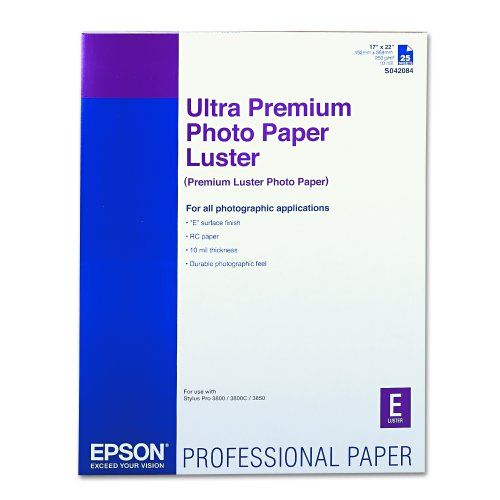 Epson Ultra Premium Photo Paper LUSTER (17x22 Inches, 25 Sheets) (S042084) by Epson (Image #1)