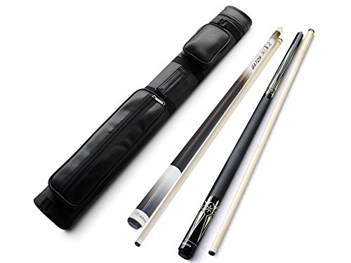 Champion Gator Zeus Billiard Maple Pool Cue Stick(19-21oz) + 2x2 Black Leather Case + Billiard Glove + Champion St 12.5 or 13mm Break Cue + Aim Trainer