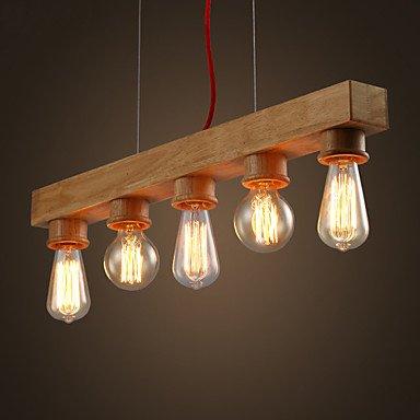 EDISON Native diseño de lámpara de araña de madera hecho a ...