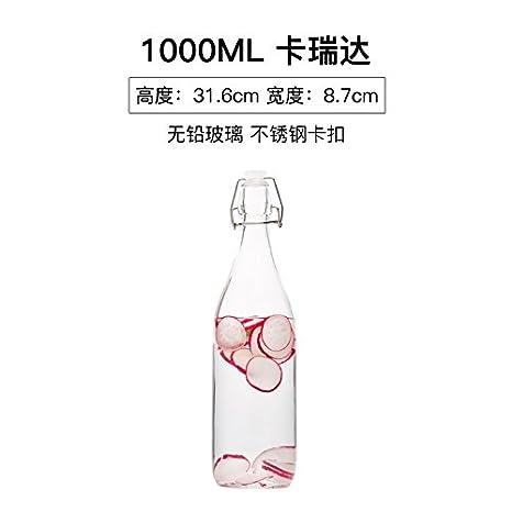 La enzima en frascos de vidrio de botella de vino tinto de ...
